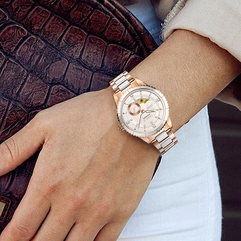 Top Luxury Brand LOBINNI Women Watches Japan MIYOTA Automatic Mechanical Clock Sapphire Diamond Skeleton Ladies Watch L2018-2 enlarge