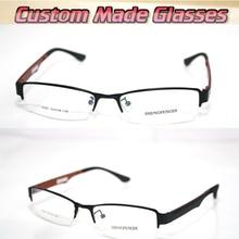 Lentilles optiques semi-bords noires en bois   Jambes optiques sur mesure, lunettes de lecture + 1 + 1.5 + 2.5 + 2 + 3.5 + 3 + 4.5 + 4 + 5.5 + 5 + + 6