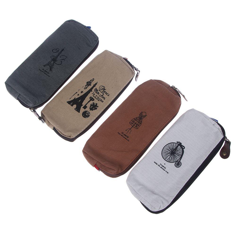 Retro Canvas Makeup Bag Cosmetic Case Coin Pouch Zipper Toiletry Bag Purse Make up Case Beauty Stora