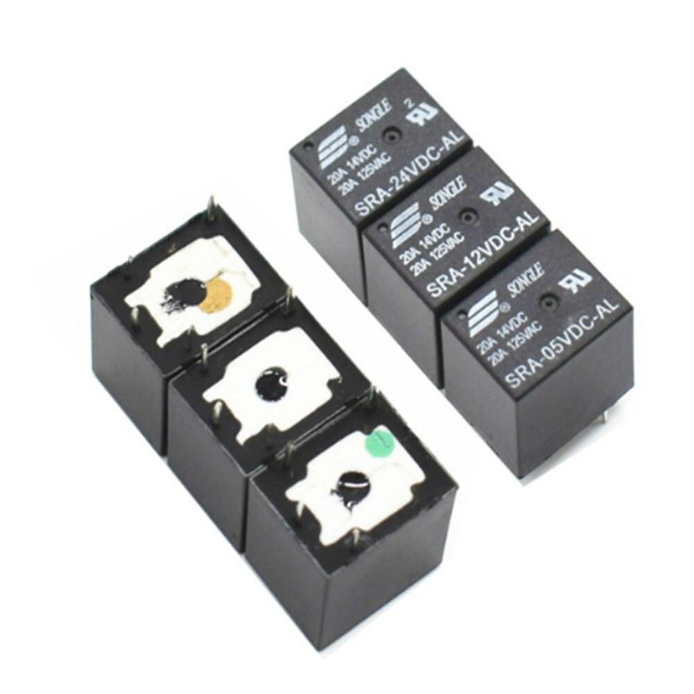 5 шт., автомобильные реле Φ 5 в 12 В 24 В 20A T74 4-контактные реле, оптовая цена