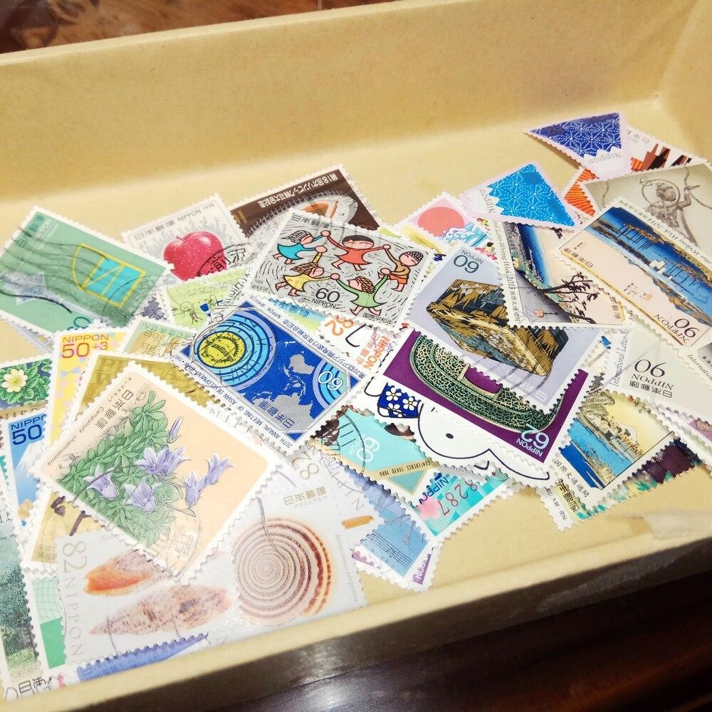 20/50 Uds. Sellos de correos japoneses todos los diferentes sellos usados al azar sellos postales marcados para coleccionar