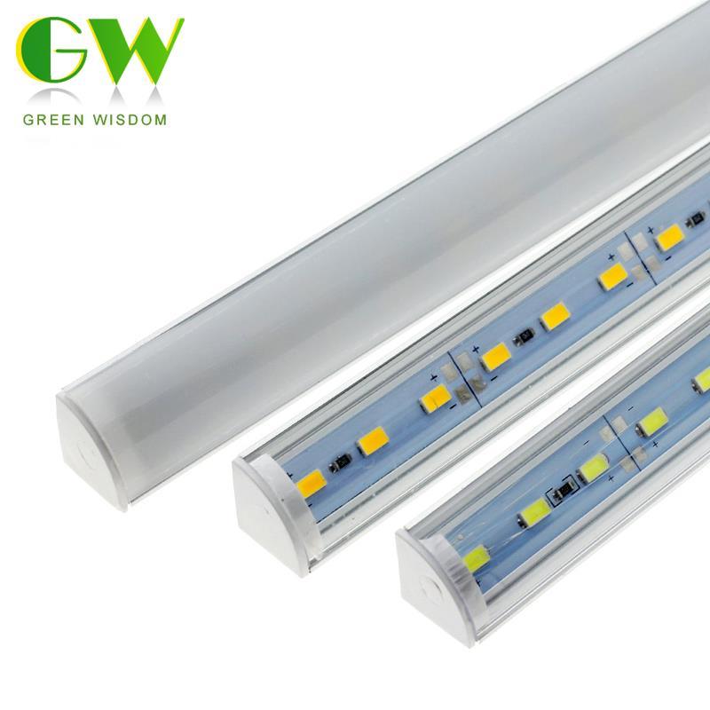 Настенный угловой СВЕТОДИОДНЫЙ светильник DC12V 50 см высокой яркости SMD 5730 жесткая Жесткая светодиодная лента L форма для кухонного шкафа осве...