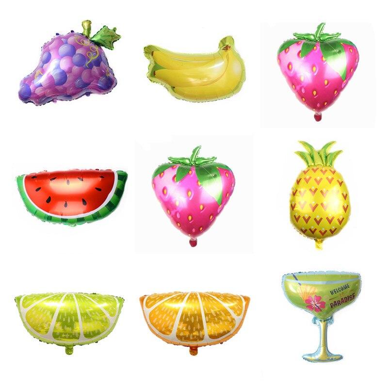 1 stücke Ananas banane orange trauben verschiedene obst luftballons kinder geburtstag party dekorationen kdis baby dusche ballon globos