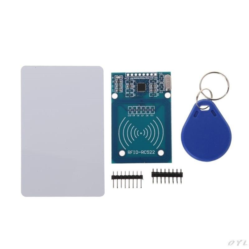 RFID Kit de RC522 lector de tarjeta de Chip, lector NFC módulo de Sensor llave anillo