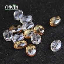 Oval Faceted Beads Gem Transparent White Natural Crystal Quartz Rock Spacer 16x12mm  DIY Neckalce Bracelet Jewelry Makings 2974