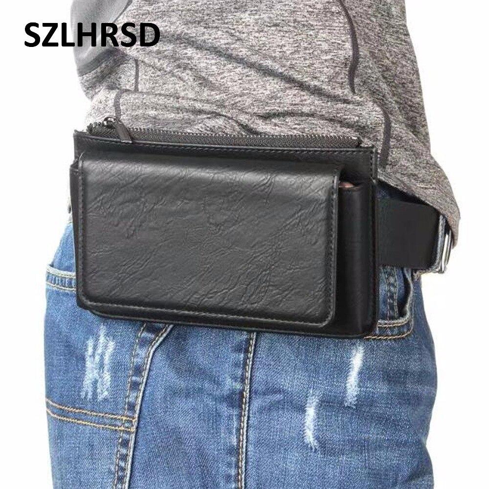 Cinturón multifuncional SZLHRSD de 5,5 pulgadas para teléfono móvil, funda de piel para ASUS ZenFone 5 ZE620KL Max M1 ZB555KL 5Z ZS620KL