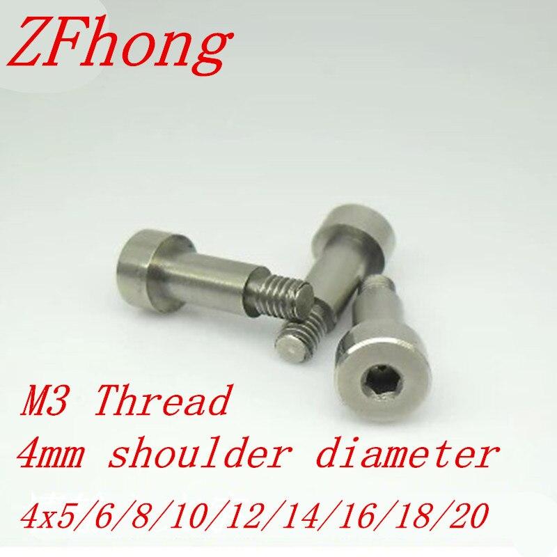 5 uds m3 diámetro de rosca 4mm Acero inoxidable hueco hexagonal hombro tornillo longitud 5/6/8/10/12/14/16/18/20