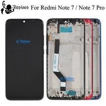 الأصلي ل Xiaomi Redmi ملاحظة 7 سبعة Redmi Note7 برو العالمية شاشة الكريستال السائل شاشة مجموعة المحولات الرقمية لشاشة تعمل بلمس مع الإطار
