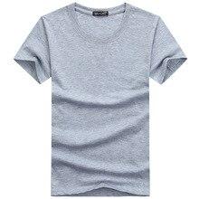 Novo simples t camisas masculinas de cor sólida algodão fino ajuste t-shirts casual verão topos camisetas para meninos adolescentes roupas homem 4xl 5xl