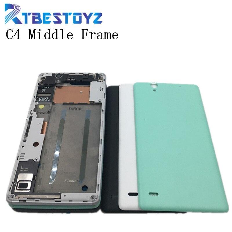 RTBESTOYZ передняя рамка Корпус ЖК-экран держатель + Корпус средней рамы с пластиной ободок для Sony Xperia C4 с задней крышкой