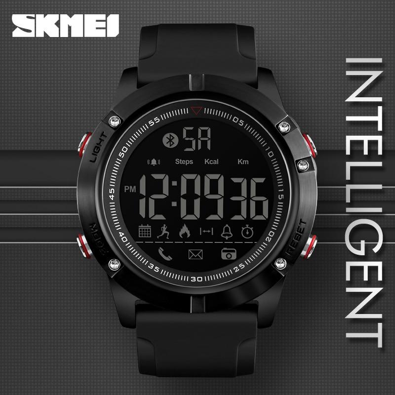 SKMEI Sport Bluetooth Digitale Armbanduhren Mode Smart Uhr Männer Pedometer Kalorie Remote Kamera LED Military Uhren Relogio