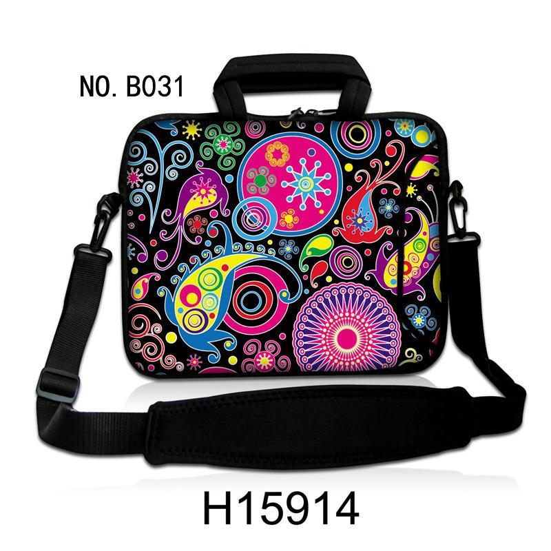 "Fashion Paisley Neoprene 10.1"" 11.6"" 13.3"" 14"" 15.6"" 17.3"" Laptop Sleeve Shoulder Carry Bag Case Cover"