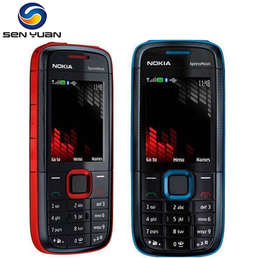 Original Nokia 5130 XpressMusic desbloqueado teléfono móvil Bluetooth FM ruso teclado soporte teléfono celular