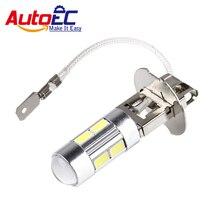 AutoEC 2x H3 Led 전구 슈퍼 밝은 흰색 높은 전원 10 SMD 5630 자동 LED 자동차 빛 안개 신호 턴 빛 운전 DRL 램프 # LJ72
