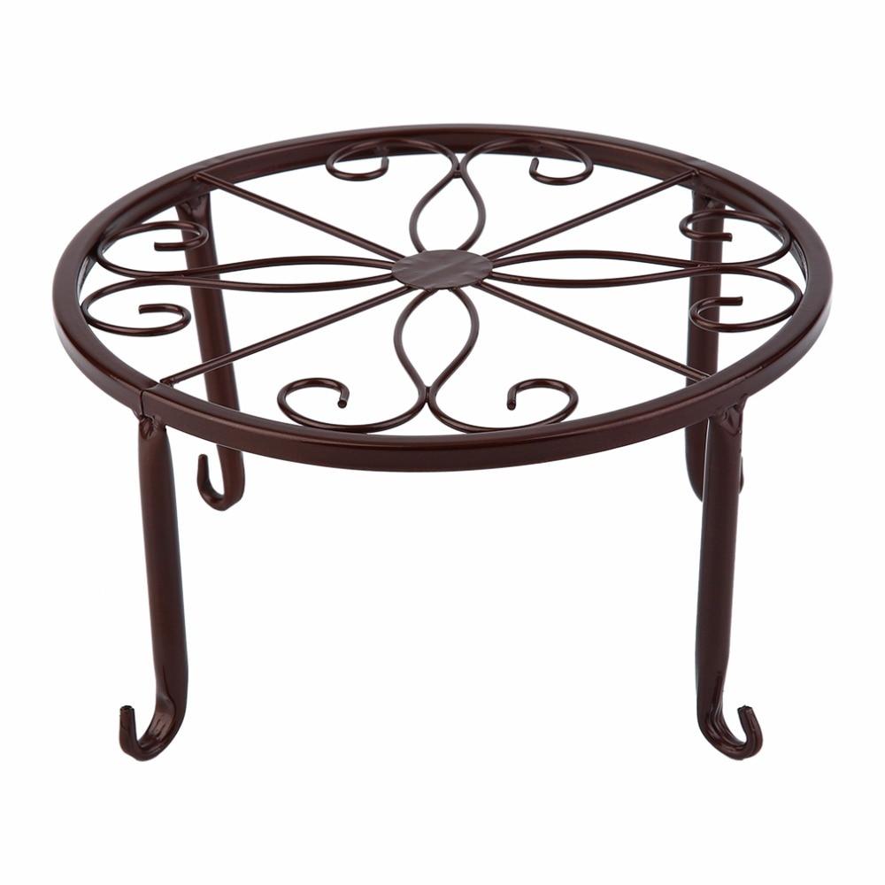 Maceta de estilo europeo para flores, Diseño de Metal, planta bonsái en maceta, soporte para sala de estar, casa, balcón, estante para maceta