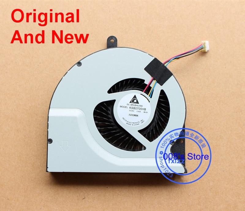 Nuevo CPU ventilador para ASUS N56 N56V N56VB N56VJ N56VM N56VZ N56VV N56SL N76VZ N76VM KSB0705HB BK35 portátil de refrigeración del radiador