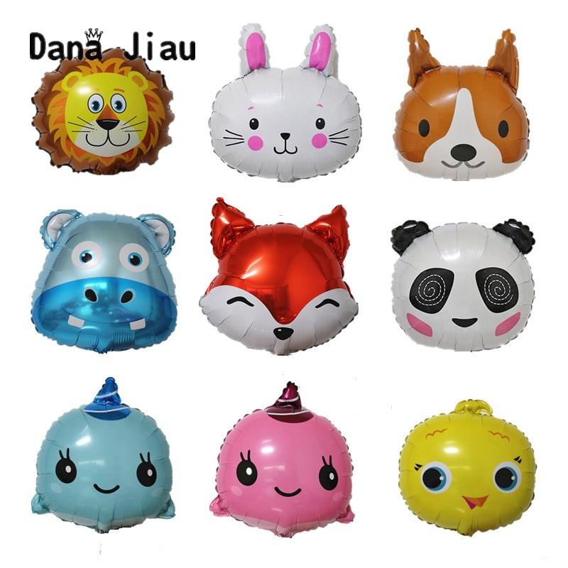 18 дюймов/мини-шары с головой животного, вечерние шары для украшения дня рождения, игрушка, Свадебный шар, праздничный надувной шар из алюминиевой фольги