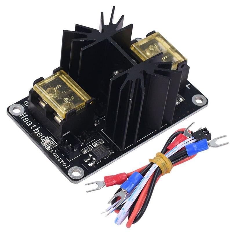 Модуль расширения мощности с подогревом кровати, модуль горячей кровати, модуль высокой мощности, трубка MOS с кабелем для 3D-принтера