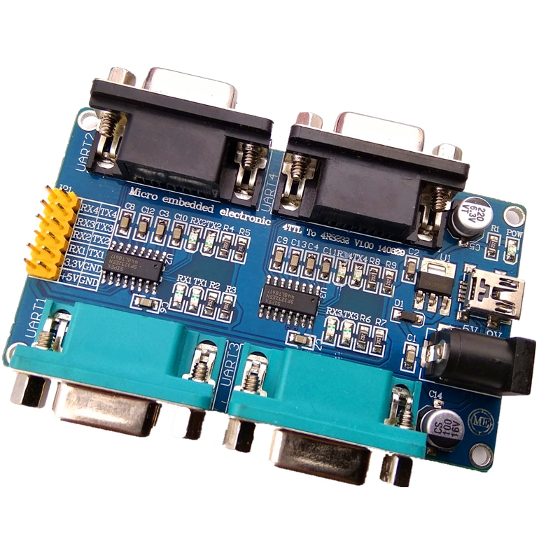 2 3 4 manera Multi-canal RS232 puerto serie UART TTL a RS232 a módulo TTL
