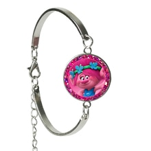 S couleur DreamWorks elfe magique Trolls Troll Cabochon verre bracelet enfants habiller jouets nouveau dessin animé cadeau bijoux
