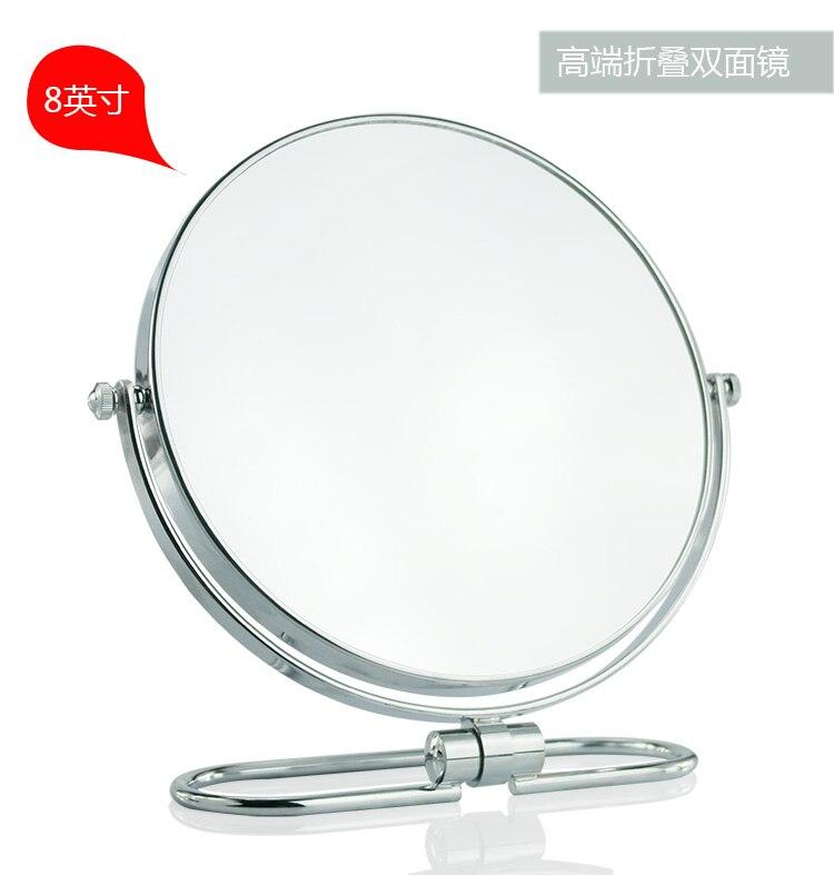 8 zoll Klapp desktop make-up spiegel 10X vergrößerungs Doppel seite spiegel metall Tragbare reise Kosmetik spiegel Wand hängen
