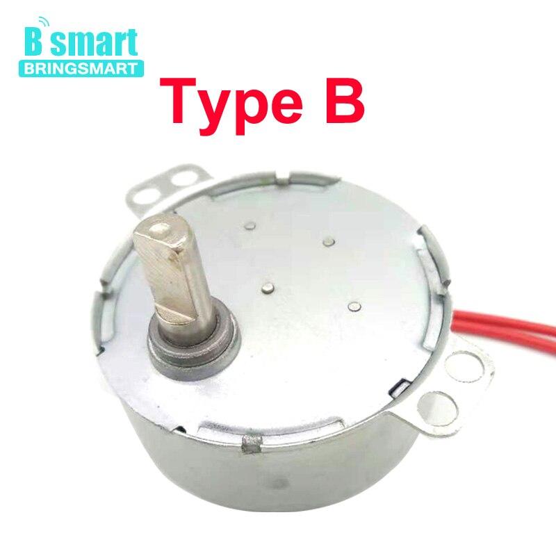 BringSmart 5-24 в 110 В 220 В низкая скорость ремесло вращается 4 типа вал выставочный вентилятор микроволновая печь шестерни переменного тока синхронный двигатель TYC-50