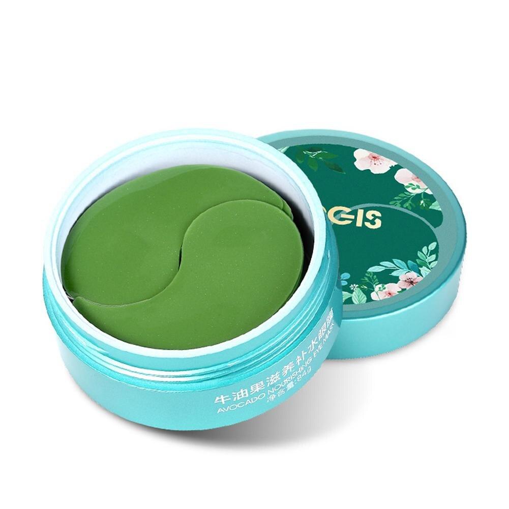 Avocado Collagen Crystal Eye Mask Patches Skin Care Ageless Anti-Wrinkle Dark Circles Moisturizing Whitening Eye Mask Gels 60PCS