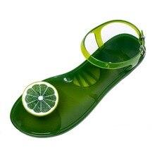 Melissa Schuhe Frauen Obst PVC Gelee Sandalen Frauen Sommer Nette Kristall Flache Ferse Prise Zehen Schuhe Mädchen Strand Schuhe Für ladies
