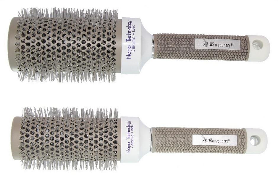 6 Sizes (19 MM 25 MM 32 MM 45MM 53 MM 65 MM )Durable Ceramic Iron Round Comb Hair Dressing Brush Salon Styling Barrel