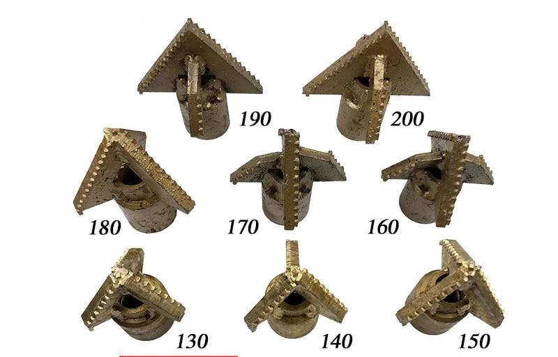 Tri-asa Liga Mãe Broca Thread Solo Escavação Brocas 190 Conectado a 76 Mãe Rosca Tubulação de Broca Da Torção