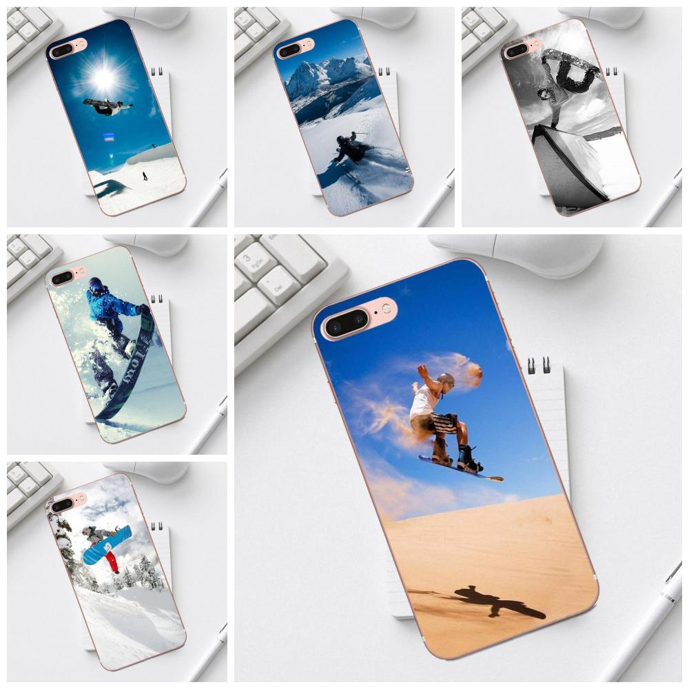 Soft TPU Phone Cases Enjoy Snow Or Die Ski Snowboard For Galaxy Alpha Core Prime Note 4 5 8 S3 S4 S5