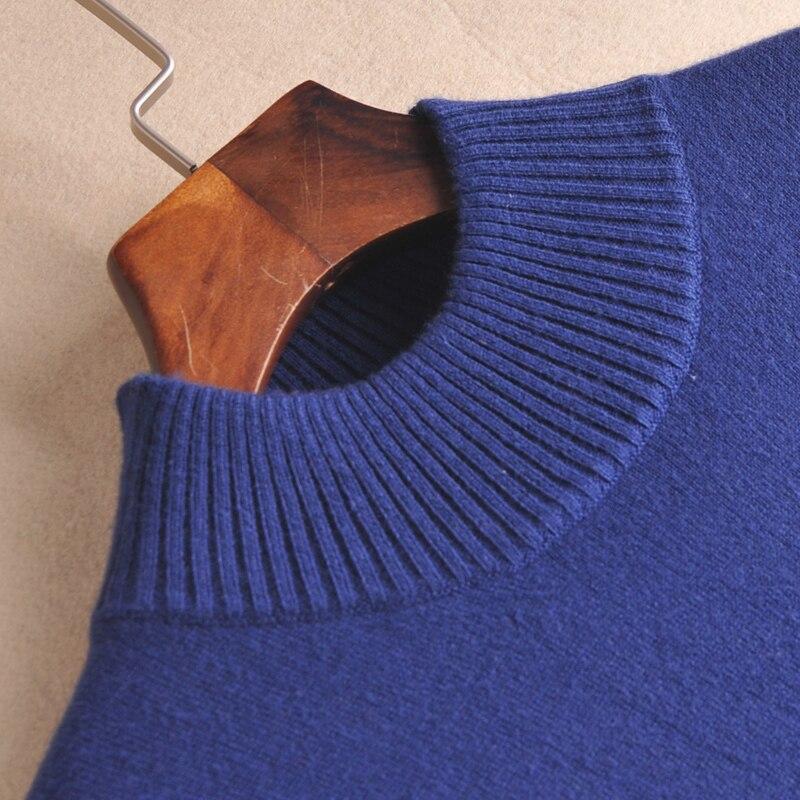Hot Sale Women Dress Cashmere Blend Knitting Dress Winter Warm Turtleneck Woman Knit Wear Longer Woolen Woman's Gown Clothing