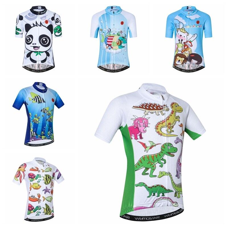 Verano 2019, ropa de ciclismo para niños, camiseta de bicicleta de carretera, ropa deportiva para niños y niñas, oso panda