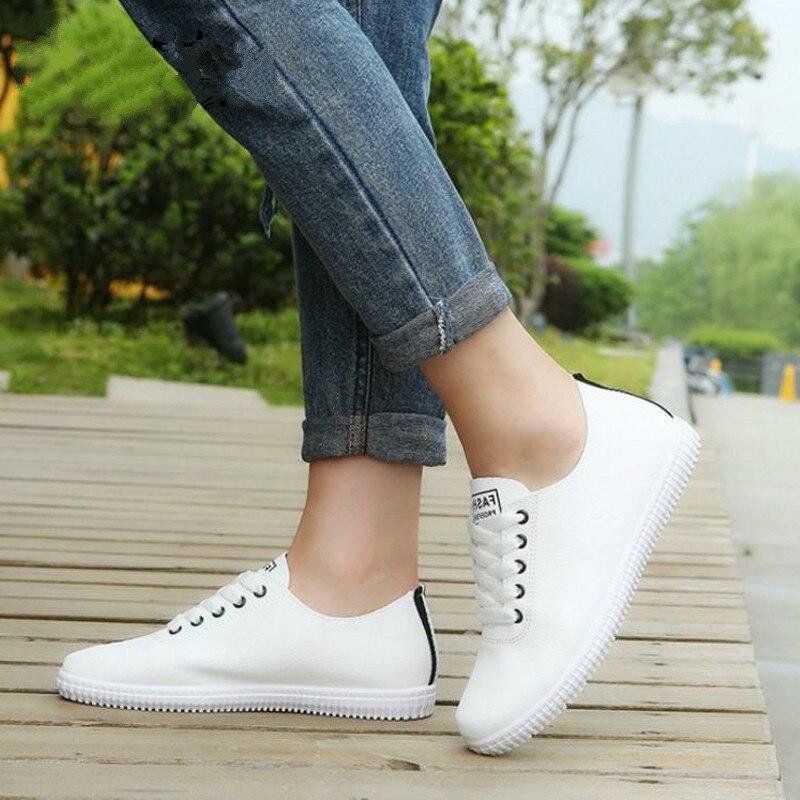 Dropshipping zapatillas de Mujer Zapatos de encaje de punta redonda Casual mujer moda vulcanizada zapatos de mujer tamaño diario de playa calzado