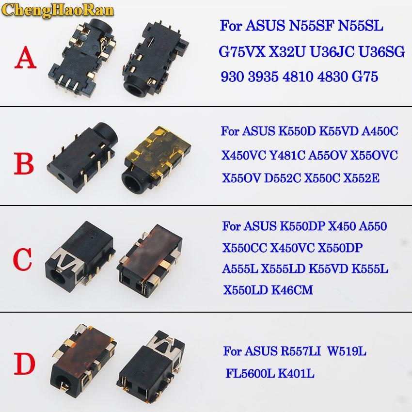 ChengHaoRan Notebook Laptop Audio Headphone Microphone Jack Socket for Asus N55SF U36JC U36SG X450VC X552E X450 A550 K401L W519L