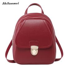 Vintage Mini Backpack WomenS Bags 2019 Small Shoulder Bag Inspirational Red Leather Back Bag Sac A Dos Girl Mochila Feminina