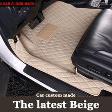 Special made car floor mats for Hyundai Verna Accent Solaris Tucson ix35 Santa Fe car styling liners