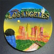 New York Los Angeles Kühlschrank Magneten USA Tourist Souvenir 3D Handmade Kühlschrank Magnetic Aufkleber Geschenk Handwerk