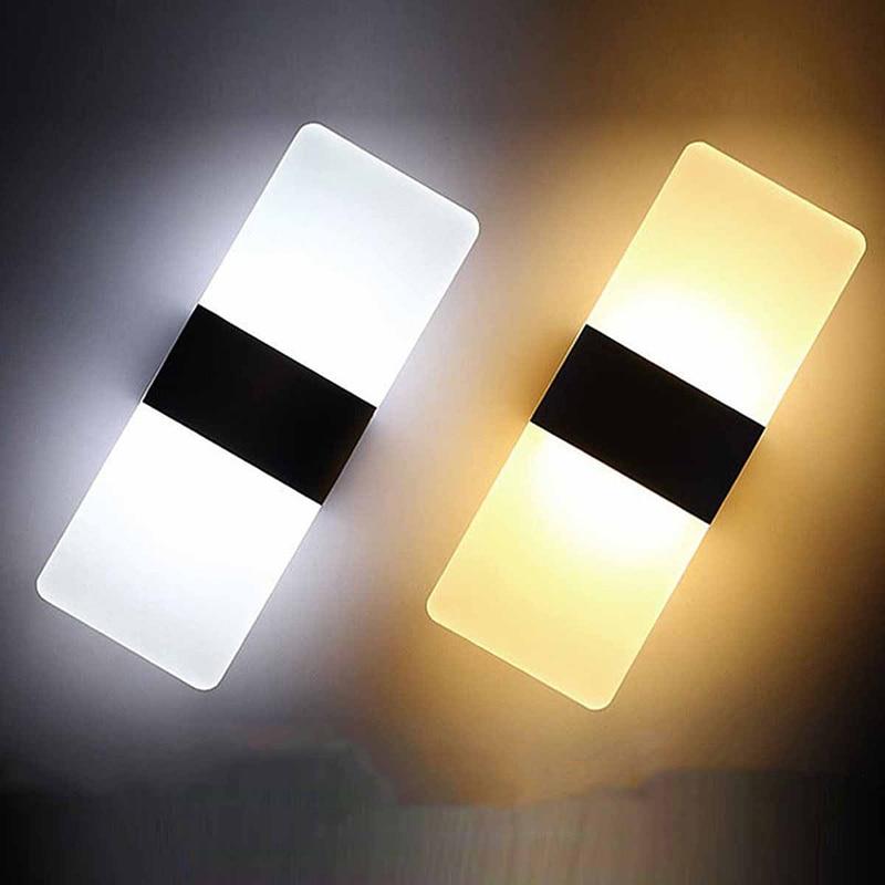 NEW Modern Minimalist LED Aluminum Lamp Bedside Lamp Wall Lamp Room Bathroom Mirror Light Direct Creative Aisle Light