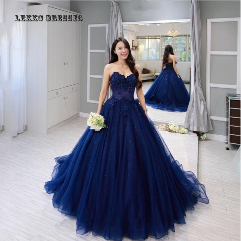 2019 Applique dentelle perles bleu marine robe De soirée robe longue Vintage bleu dentelle robes De Festa Longo Sukienka Wieczorowa