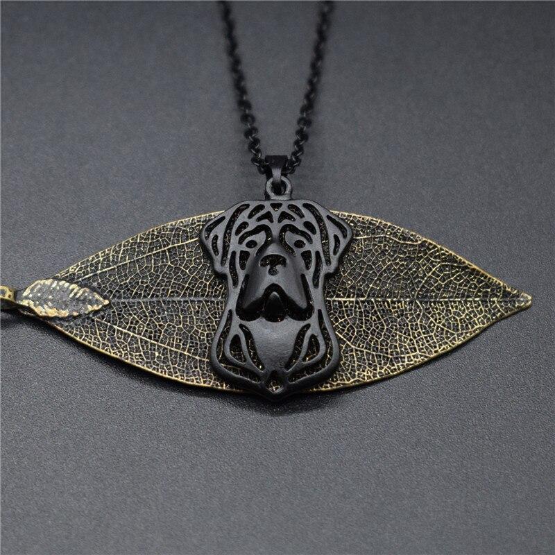 4 colores nuevo Cane Corso collar de encanto de moda de Metal de joyería Cane Corso colgante collar de las mujeres