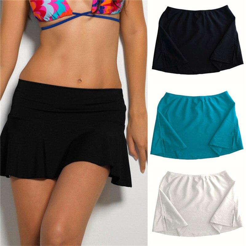 Sexy Verão Bikini Swim Saia Curta Swimwear Cover Up Praia Mini Vestido Três Cores