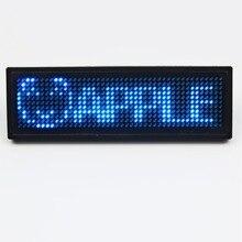 5 ensembles/lot couleur bleue led Programmable défilement nom Message Badge étiquette affichage numérique Supports anglais, russe