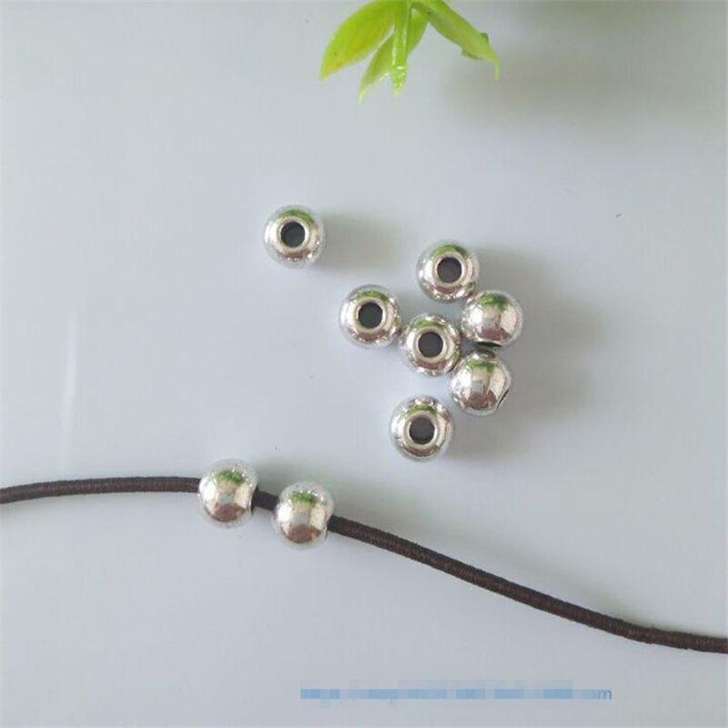 100 шт./партия, тибетские серебряные бусины 6 мм
