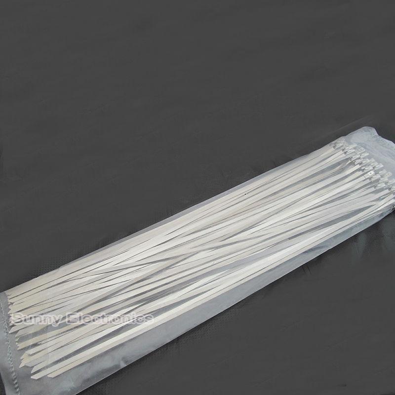 "100 stücke 4,6X400mm 16 ""16 Zoll 304 Edelstahl Kabelbinder Auspuff-verpackung Beschichtete"