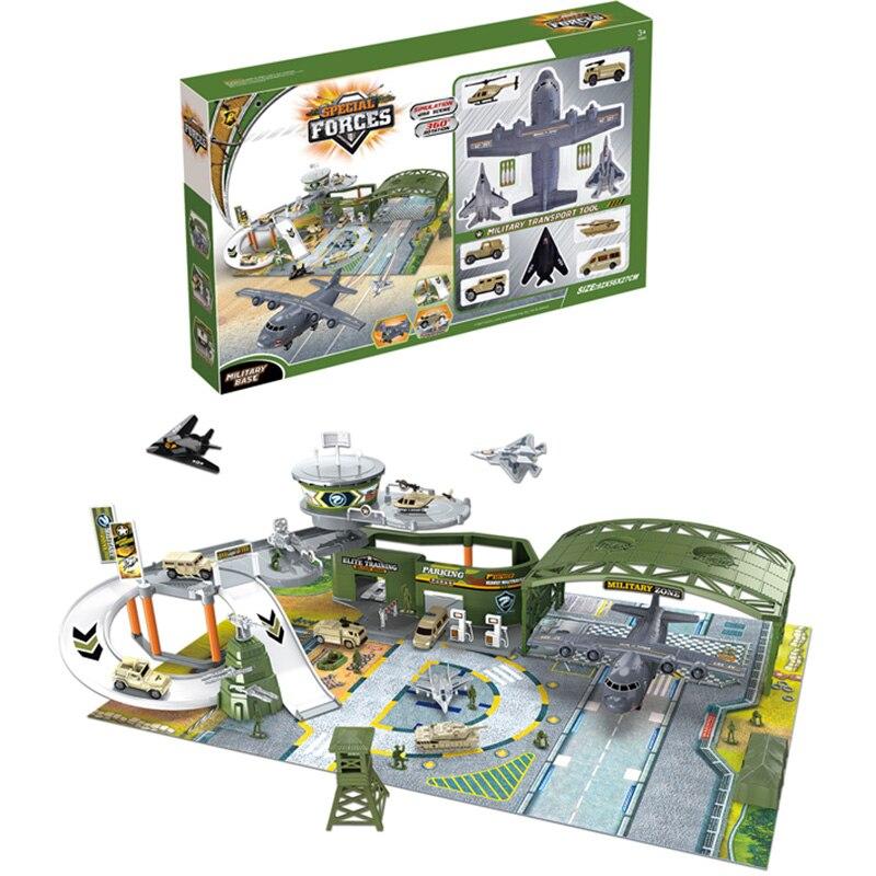 Simulation Military battlefield befehl gebäude spielzeug set soldat armee regiment flughafen Modell montage aufkleber jungen geschenk