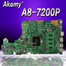 Akemy X555YA X555DA carte mère dordinateur portable Pour For Asus X555D A555D X555DG X555YA X555Y X555DA K555D carte mère A8-7200P 4 GO