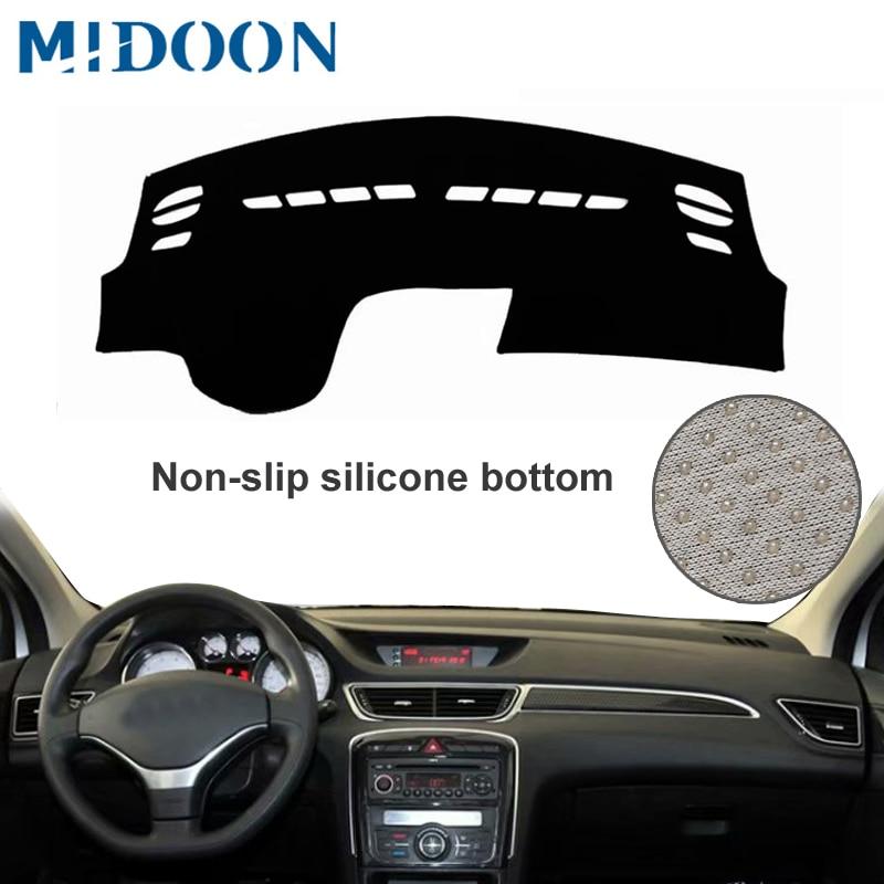MIDOON para Peugeot 308 T7 2008-2013 cubiertas de diseño salpicadero Dash Mat sombra de sol del tablero, alfombra 2009, 2010, 2011, 2012