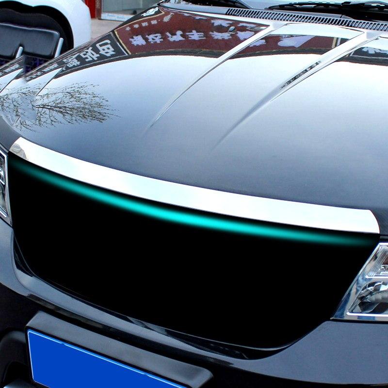 AX Front Hood Bonnet Grill Grille Mesh Chrome Cover Trim Car Molding For Dodge Journey Fiat Freemont 2009 - 2018 2015 2016 2017