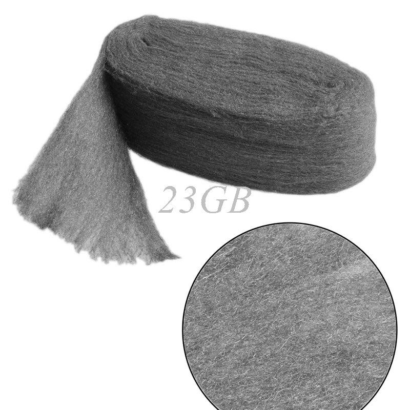 Grado 0000 lana de alambre de acero 3,3 m para limpiador de pulido no se arruga J24